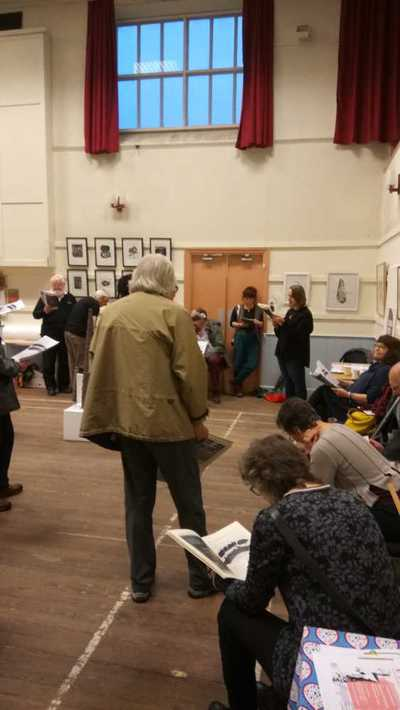 Poetry reading organised by the Wordsworth Trust on the opening night