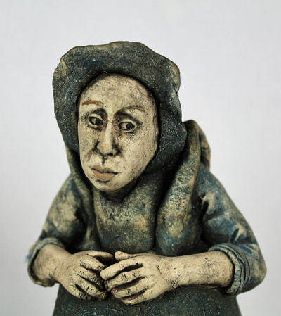 Stoneware Figure of a Woman